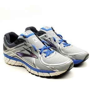 Brooks GTS 16 silver blue running sneakers